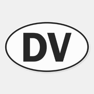 DV Oval Identity Sign Oval Stickers