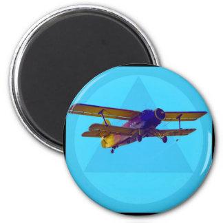 dvokrilac 6 cm round magnet