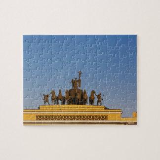 Dvortsovaya Square, Triumphal Arch, sunset 2 Jigsaw Puzzle
