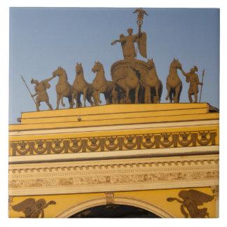 Dvortsovaya Square, Triumphal Arch, sunset Tile