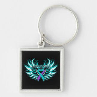 DVSA Awareness Heart Wings Keychains