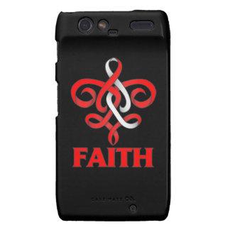 DVT Faith Fleur de Lis Ribbon Motorola Droid RAZR Cases