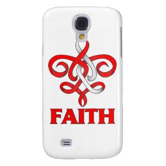 DVT Faith Fleur de Lis Ribbon Galaxy S4 Covers