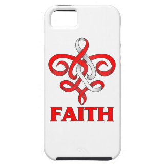 DVT Faith Fleur de Lis Ribbon iPhone 5 Cover