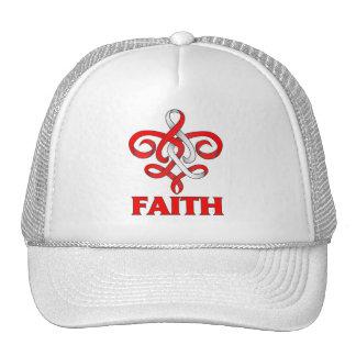 DVT Faith Fleur de Lis Ribbon Mesh Hat