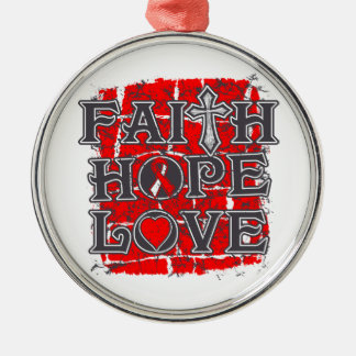 DVT Faith Hope Love Silver-Colored Round Decoration