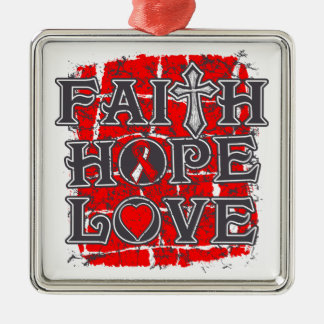 DVT Faith Hope Love Silver-Colored Square Decoration