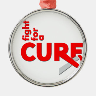 DVT Fight For A Cure Silver-Colored Round Decoration