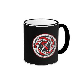 DVT Hope Intertwined Ribbon Coffee Mugs