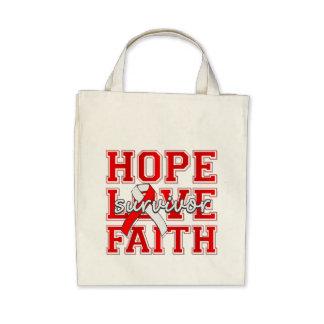 DVT Hope Love Faith Survivor Canvas Bags