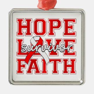 DVT Hope Love Faith Survivor Christmas Tree Ornaments