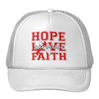 DVT Hope Love Faith Survivor Hat