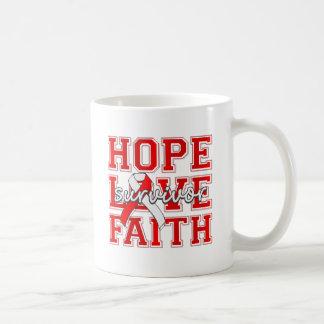 DVT Hope Love Faith Survivor Coffee Mugs