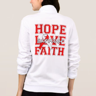 DVT ‎Hope Love Faith Survivor Printed Jackets