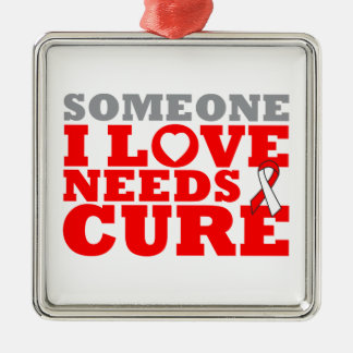 DVT Someone I Love Needs A Cure Silver-Colored Square Decoration