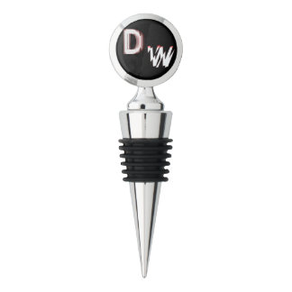 DW LOGO:Chrome Wine Stopper