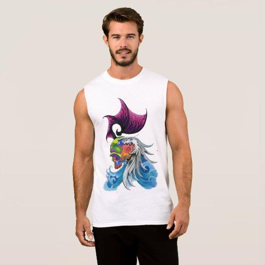 "Dwainizms ""Dragon Skull"" Men's Cotton Sleeveless T"