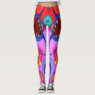 "Dwainizms ""Party Poopers"" Colorful Leggings"