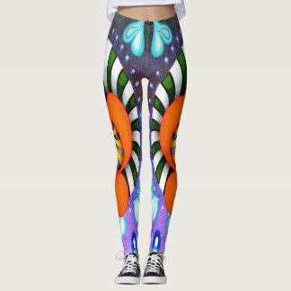 "Dwainizms ""Spinulator"" Bold Color Leggings"