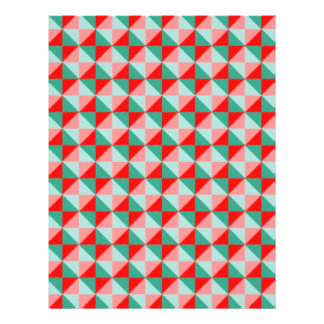 Dwan Abstract  square and triangle Pattern Personalized Flyer