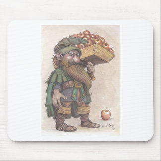 Dwarf carrying apples mouse pad