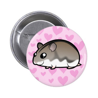 Dwarf Hamster Love 6 Cm Round Badge