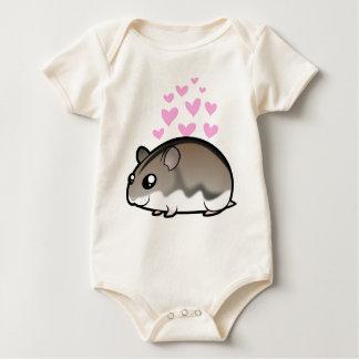 Dwarf Hamster Love Baby Bodysuit