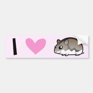 Dwarf Hamster Love Bumper Sticker