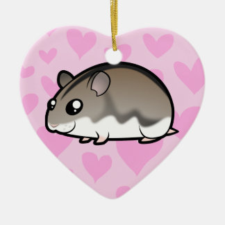Dwarf Hamster Love Christmas Ornament