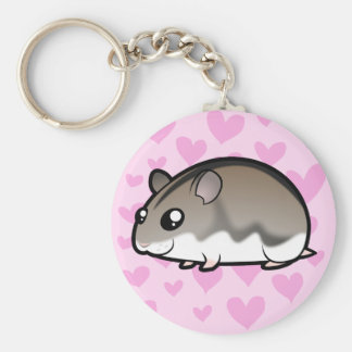 Dwarf Hamster Love Keychain