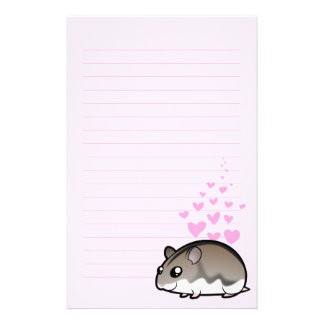 Dwarf Hamster Love Personalised Stationery