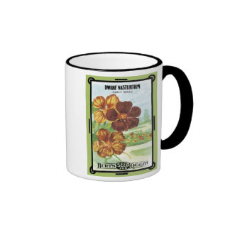 Dwarf Nasturtium Fancy Mixed Burt's Seeds Coffee Mugs