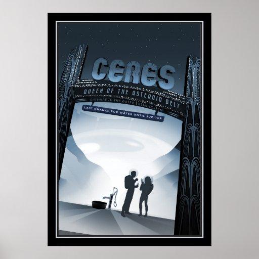 Dwarf Planet Ceres Space Tourism Poster
