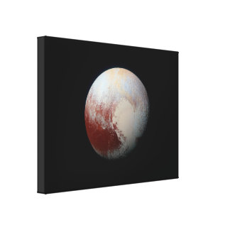 Dwarf Planet Pluto by New Horizons Wrapped Canvas Stretched Canvas Prints