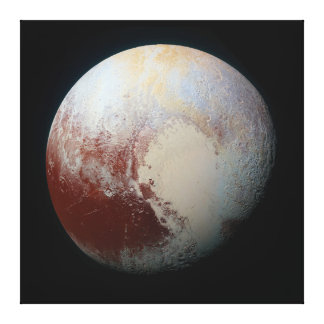 Dwarf Planet Pluto Canvas Print