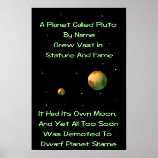 Dwarf Planet Pluto Limerick Poster