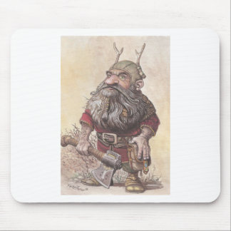 Dwarf with Axe Mouse Pad