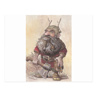 Dwarf with Axe Postcard