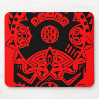 "Dwayne Johnson ""The Rock"" polynesian tribal tattoo Mouse Pad"