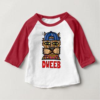 """""""Dweeb"""" Baby 3/4 Raglan T-Shirt"""