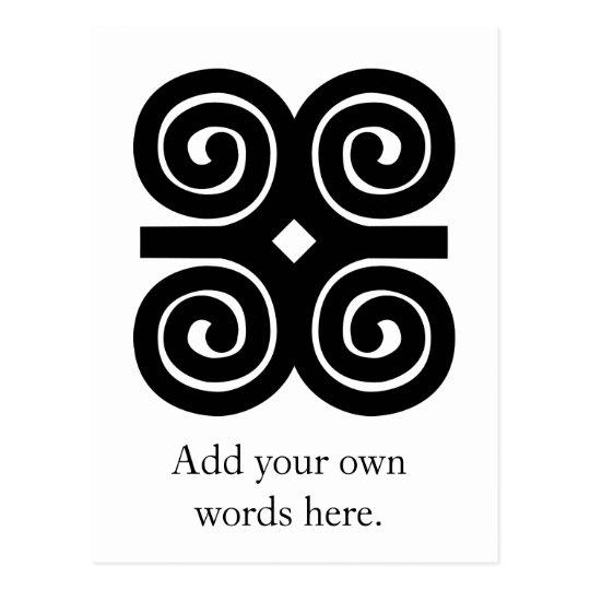 Dwennimmen - Strength and Humility Adinkra Symbol Postcard