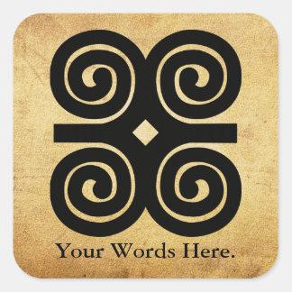 Dwennimmen - Strength and Humility Adinkra Symbol Square Sticker