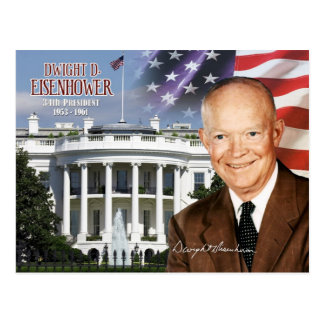 Dwight D. Eisenhower -  34th President of the U.S. Postcard