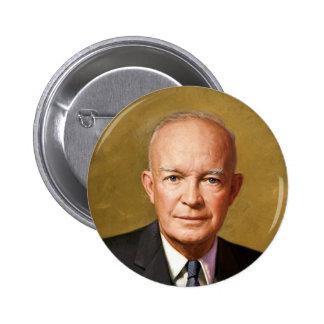 Dwight D Eisenhower 6 Cm Round Badge