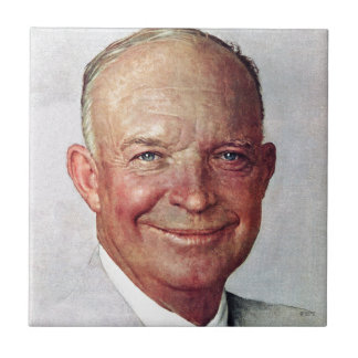 Dwight D. Eisenhower Small Square Tile