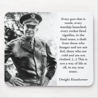 Dwight Eisenhower on Priorities Mousepad