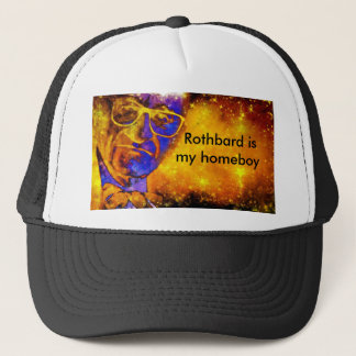 "DWMND ""Rothbard is my homeboy"" trucker hat"