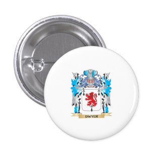 Dwyer Coat of Arms - Family Crest 3 Cm Round Badge