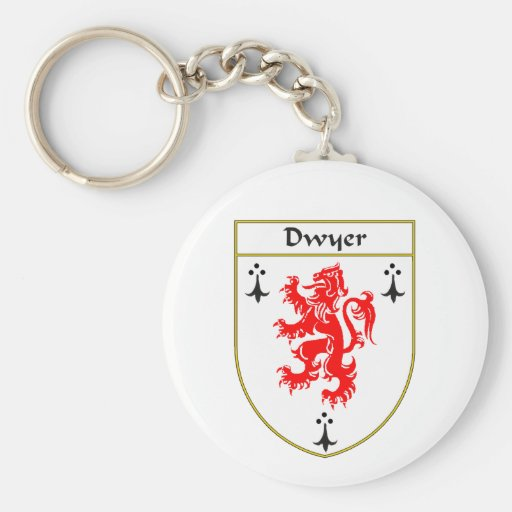 Dwyer Coat of Arms/Family Crest Key Chain
