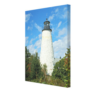 Dyce Head Lighthouse, Maine Wrapped Canvas Print